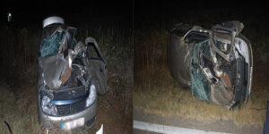 Korkunç kazadan baba oğul sağ çıktı
