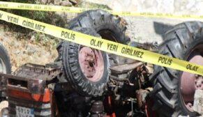 Traktör devrildi yaşlı adam hayatını kaybetti