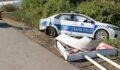 Polis ve jandarma ekibi kaza yaptı
