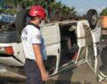 Otomobil ile minibüs çarpıştı: 12 yaralı