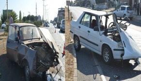 Otomobil karşı şeride geçerek başka araca çarptı: 4 yaralı