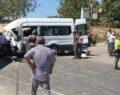 Tarım işçilerini taşıyan minibüs kamyonla çarpıştı, çok sayıda yaralı var