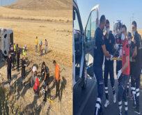 Yolcu otobüsü devrildi: 32 yaralı