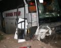 Yolcu otobüsü şarampole düştü: 10 yaralı