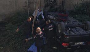 Otomobil kanala uçtu: 1 ölü