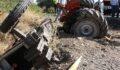 Korkunç kazada traktör ikiye ayrıldı