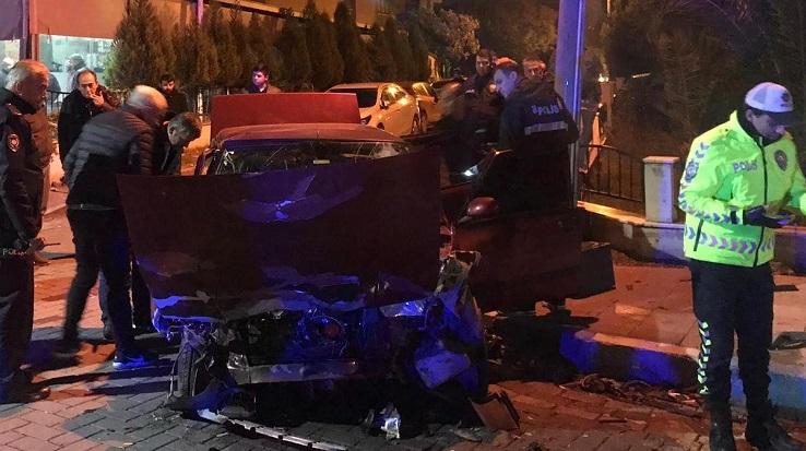 Kaza yapan araçtan cephanelik çıktı