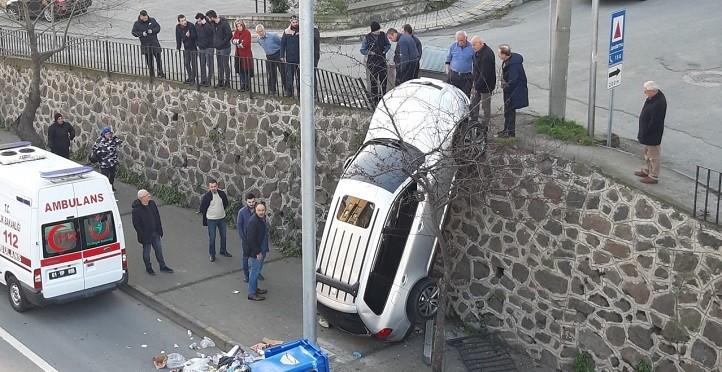 Trabzon'da sıra dışı bir kaza