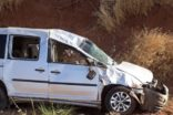 Devrilen hafif ticari araçtaki 7 kişi yaralandı