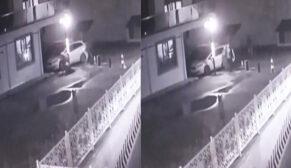 Komşusunu silahla vurduğu an güvenlik kameralarına yansıdı