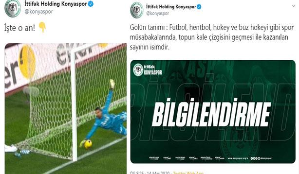 Konyaspor'dan açıklamalı gönderme