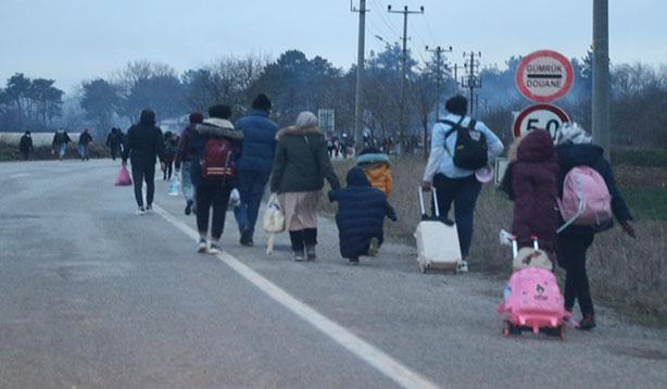 Edirne'ye Mülteci akını devam ediyor