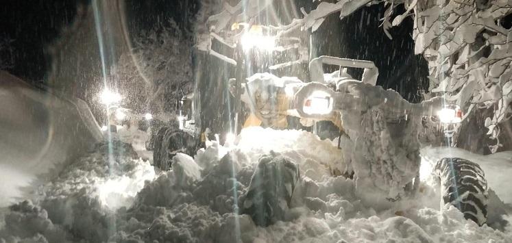 Mersin yeni yıla karla başladı
