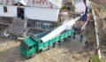 Caminin minaresi kamyon kasasında taşındı