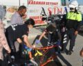 Motosiklet devrildi: 4 yaralı