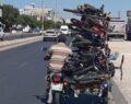 Motosiklet sürücüsü tehlikeye davetiye çıkardı