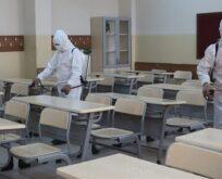 Şanlıurfa'da sınav öncesi okullar dezenfekte ediliyor