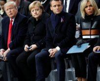 Liderler, Birinci Dünya Savaşı'nın sona ermesinin 100. yıldönümünde Paris'te