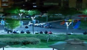 Sokağa çıkma yasağına uymayıp parkta oyun oynadılar
