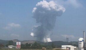Havai fişek fabrikasında patlama