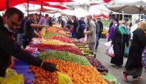 Kısıtlama öncesi pazarlarda yoğunluk