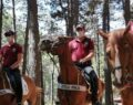 Atlı polislerden ormanda mangal denetimi