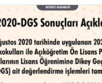 DGS sonuçları açıklandı