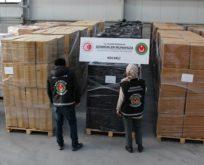 9 milyon değerinde kaçak sigara yakalandı