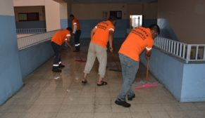 Siverek'teki tüm Okullarda yıkama çalışması başlatıldı