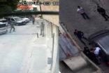 Silahlı çatışma güvenlik kameralarına yansıdı