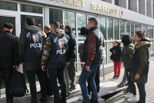 Suç örgütüne operasyon: 2'si kadın 7 kişi tutuklandı