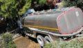 Su tankeri evin bahçesine uçtu