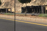 Şanlıurfa'da buğday yüklü kamyon devrildi