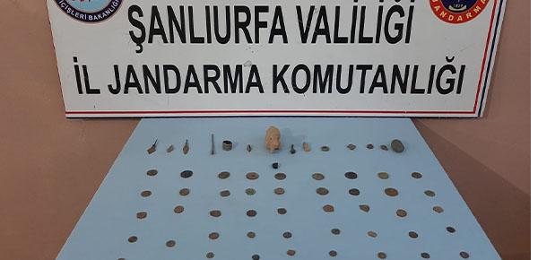 Şanlıurfa'da tarihi eserler ele geçirildi