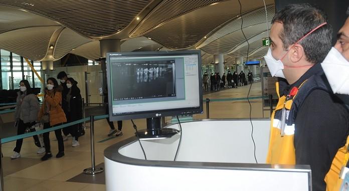 Uzakdoğu'dan gelen tüm yolculara için termal kamera