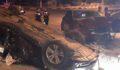 İki otomobilin karıştığı kazada ortalık savaş alanına döndü