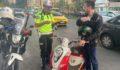 16 motosiklet trafikten men edildi
