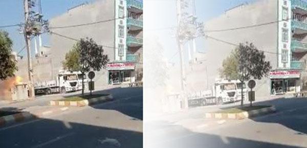 Patlayan elektrik trafosu alev topuna döndü