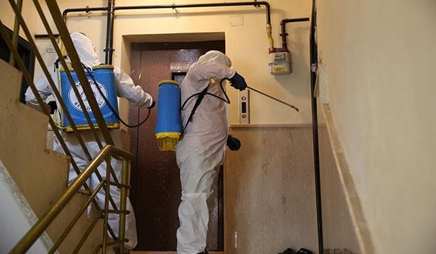 Şanlıurfa'da dezenfekte çalışmaları sürüyor