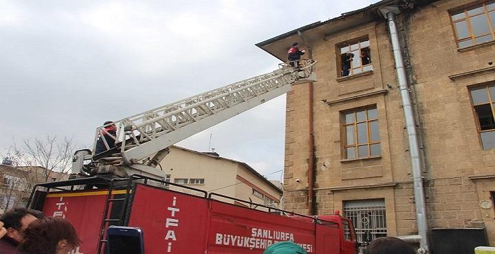 Eyyübiye HEM'de yangın tatbikatı