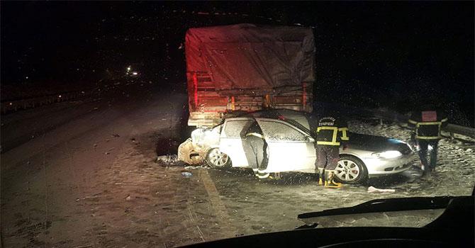 Şanlıurfa'da kar kazaya neden oldu