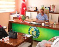 Essum Aslan'dan Urfaspor kulüp başkanı Yetim'e ziyaret