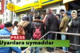 Tedbirlere uymayan vatandaşlar PTT önlerinde yoğunluk  oluşturdu