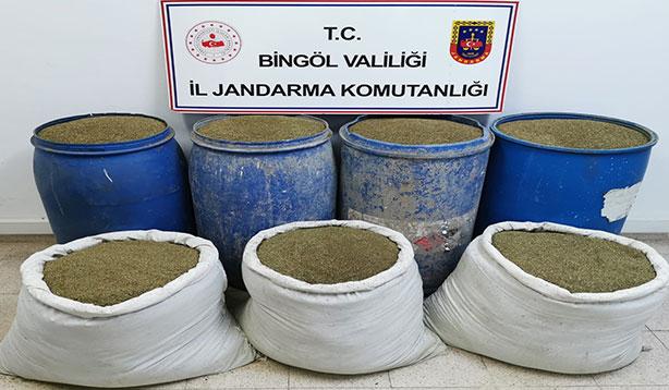 Bingöl'de 504 kilogram esrar ele geçirildi