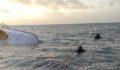 Van Gölünde tekne alabora oldu : 7 ölü 64 yaralı