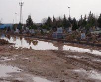 Viranşehir'de ölüleri su bastı!
