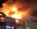 Otelde çıkan yangın yürekleri ağza getirdi
