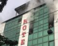 Şanlıurfa'da otelde çıkan yangın henüz söndürülemedi