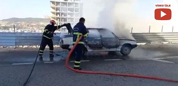 Şanlıurfa'da otomobil alev aldı