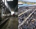 Hayvan çiftliği yanarak kül oldu